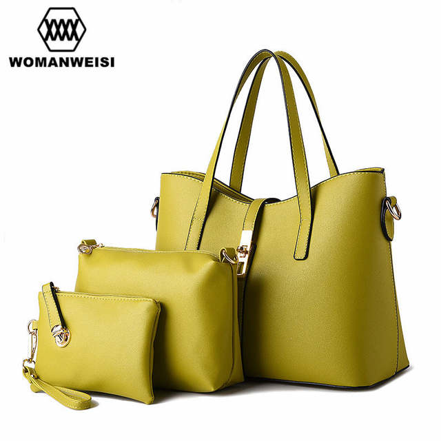 4eb57a24707 US $49.99  12 Color Luxury Female Purse Handbag Tote Bags Set European and  American Style Famous Designer Brand Bags Women Leather Handbags-in ...