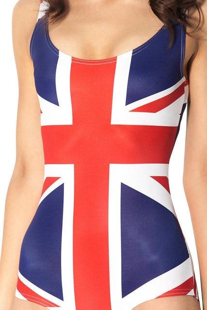 426d1a0098dab Женские Купальники для малышек сексуальные стринги Одна деталь купальник  британский флаг печати ванный комплект Lady боди