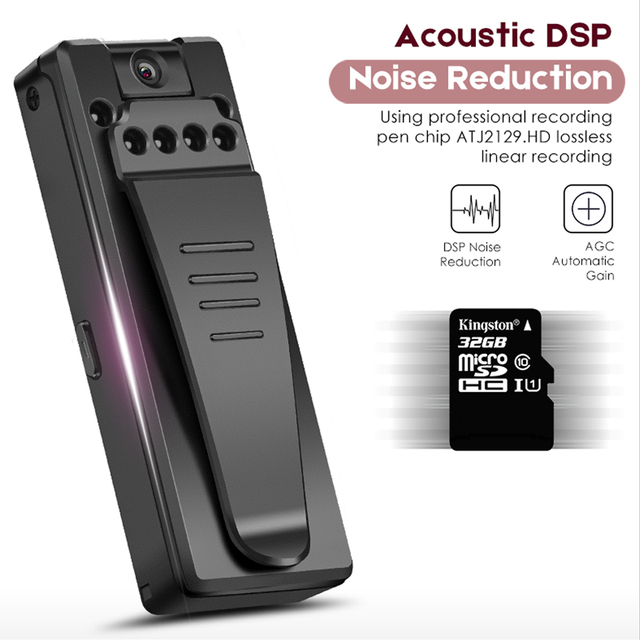 Audio Video Recording Hidden Digital Dictaphone Registrar Camcorder Camera Noise Reduction Portable Noise Reduction Camera 1080