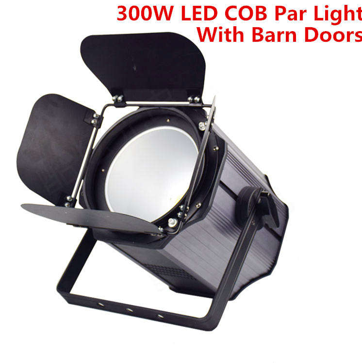 300W COB LED Par Light With Barn Doors Aluminium Led Strobe Light Effect Stage Lighting Warm White RGBWA+UV 6in1 200W COB Par Dj