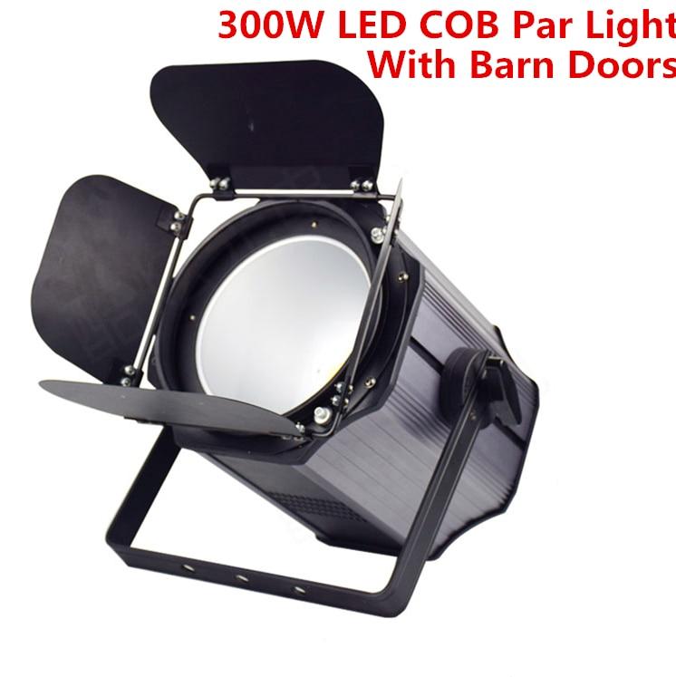 300W COB LED Par Light With Barn Doors Aluminium Led Strobe Light Effect Stage Lighting Warm White RGBWA+UV 6in1 200W COB Par Dj