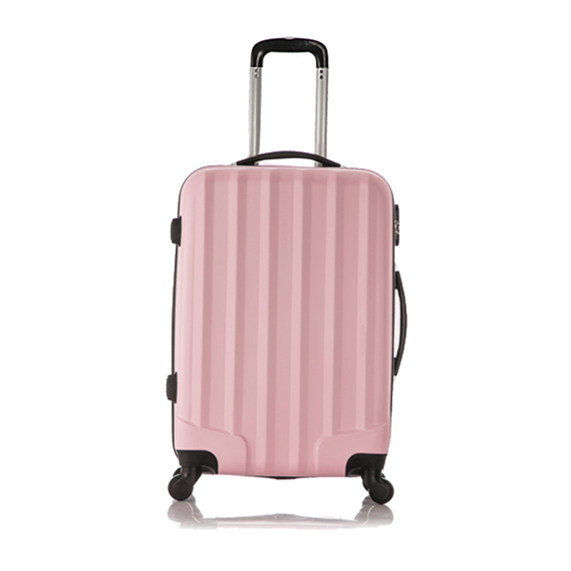 Fashion Set of 1 piece travel luggage 4 wheels trolleys suitcase bag hard shell Color Pink