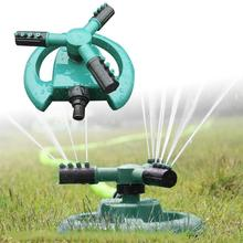 360 Circle Rotating Sprinkler 3 Nozzles Garden Lawn Pipe Hose Spray Irrigation Tools