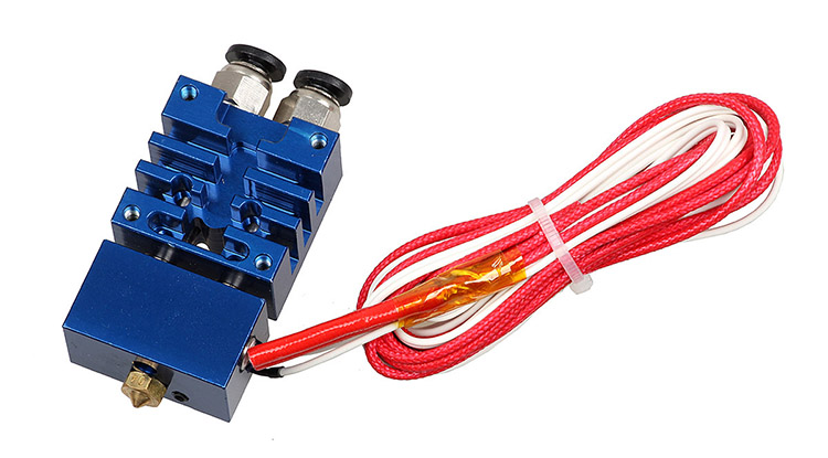 3DSWAY 3D Printer Parts Improved Based on E3D Cyclops 2 In 1 Out Hotend Kit with Thermistor and Cartridge Heater 0.4mm1 (2)