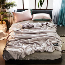Polyester Air Condition Summer Quilt Comforter Twin Queen Blankets for Adults Kids Plaids Patchwork Bed Covers No Pillowcase29(China)