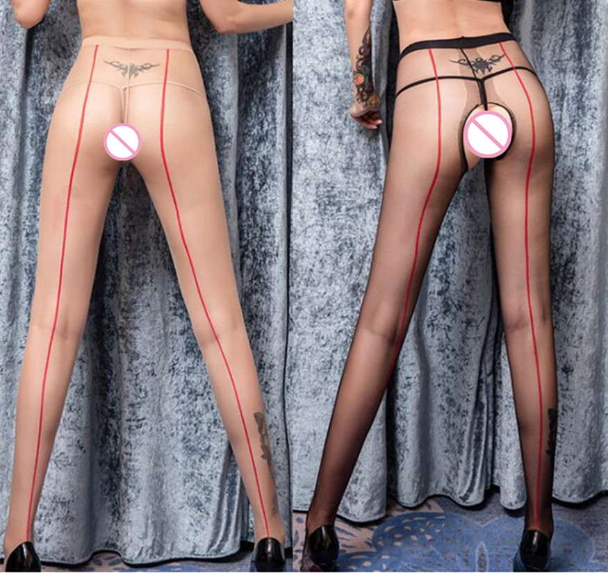 Hot Sale Women's Summer Sexy Stockings Ultra Sheer Silk Pantyhose Tights Fashional One Line Design Tights Stocking