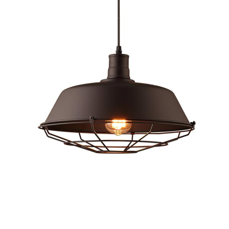Creative personality American retro industrial style coffee cafe restaurant bar single head iron pot lid chandelier chandelier 1pc wrought iron chandelier bottle american industry creative personality retro cafe bar restaurant lights chandelier bar gy109