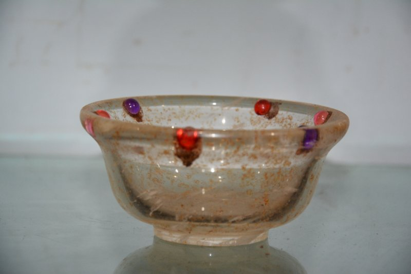 Dinastía Qing viejo raro cristal y Gema tazón, el mejor adorno de la ...