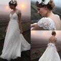 Luxo 2016 Vestido de Noiva Bainha Pescoço V Apliques de Tule Macio Chiffon Bow Couture Estilo Designer Partido Vestidos de Noiva