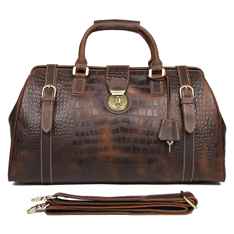 20 Women Travel Duffle Large Capability BagsReal Leather Weekend Bag2019Lady Business  Crocodile Laptop Travel Tote Handbag Bag20 Women Travel Duffle Large Capability BagsReal Leather Weekend Bag2019Lady Business  Crocodile Laptop Travel Tote Handbag Bag
