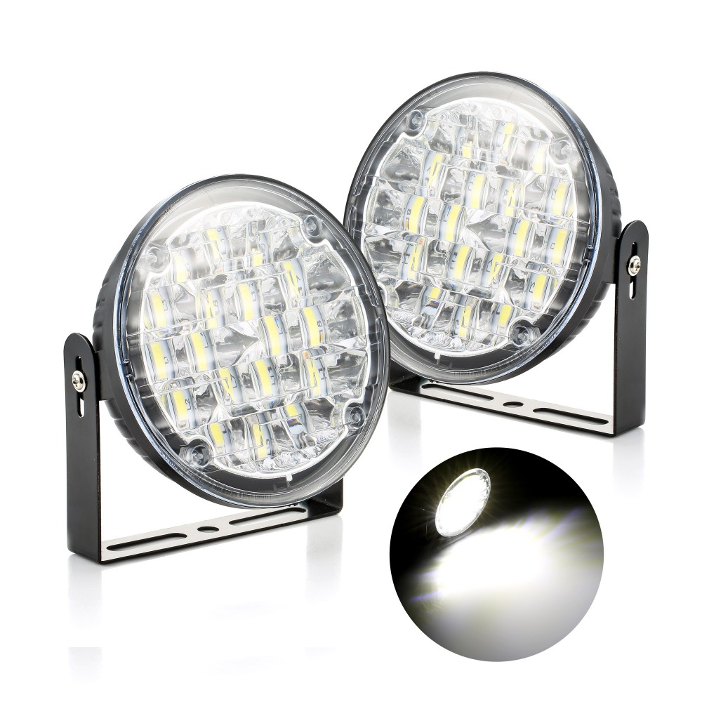 <font><b>1</b></font> pair of Ultra-thin design car daytime running lights <font><b>18</b></font> bright LEDs Low power Waterproof Easy to install Ampoule <font><b>Voiture</b></font> #4 image