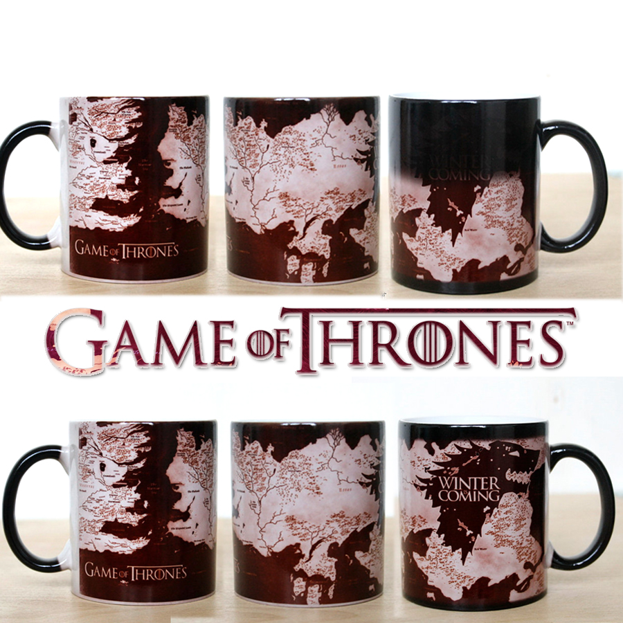Surprise Gift Game Of Thrones mugs Winter is coming mug Magic color changing mugs cup Tea