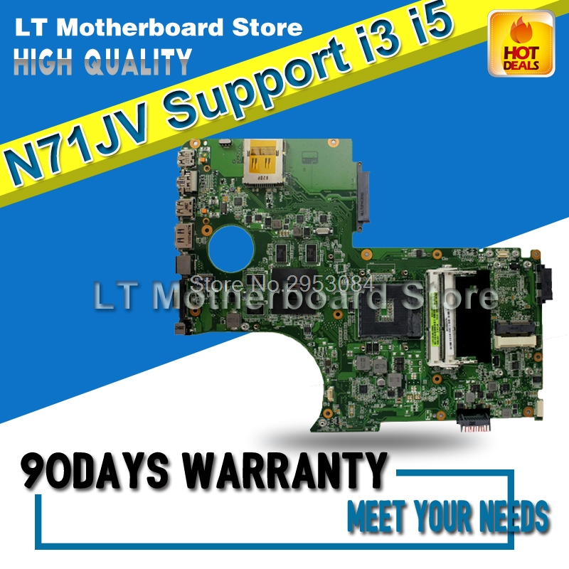 все цены на For N71JV Mainboard For N71JV Laptop Motherboard Support i3 i5 CPU Motherboard 100% Tested Well and Motherboard S-4 онлайн