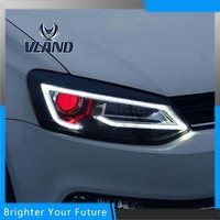 VLAND фара для VW Volkswagen Polo светодио дный фары 2009 2010 2011 2012 2013 2014 2015