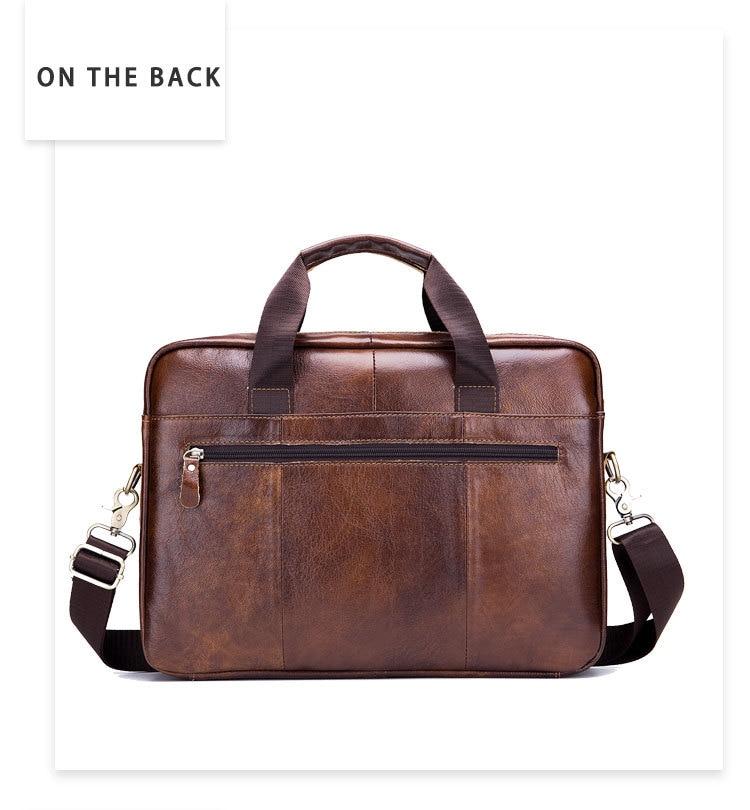 HTB1Q ftaEvrK1RjSspcq6zzSXXaU Genuine leather men's Briefcase vintage business computer bag fashion messenger bags man shoulder bag postman male Handbags