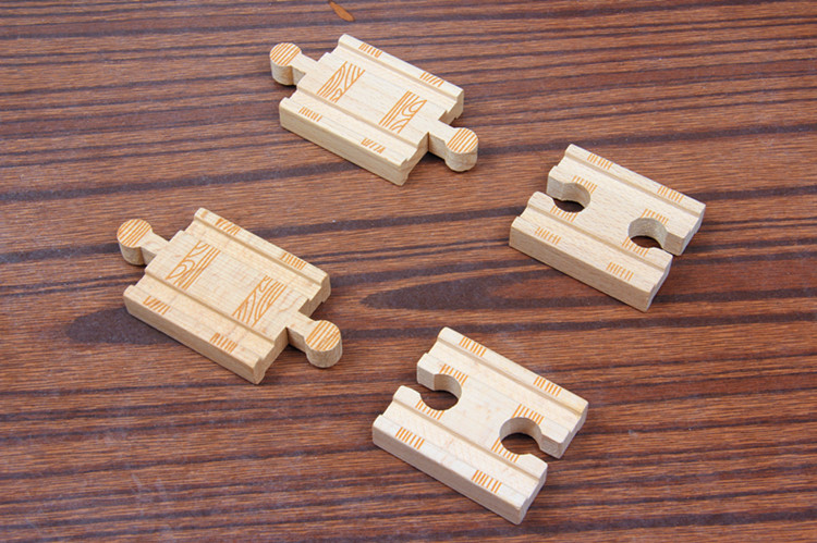TTC15 TRCAK Wooden Track Toy Train Scene Track Accessories BRIO Toy Car Truck Locomotive Engine Railway Toys For Children