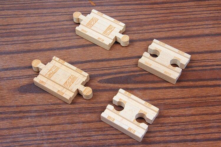 TTC15 TRCAK Wooden Track Toy Train Scene Track Accessories BRIO Toy Car Truck Locomotive Engine Railway Toys For Children