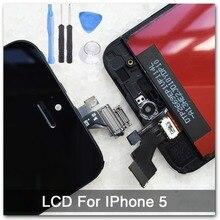 Черный 100% Гарантия AAA Замена Дисплей для iphone 5 iphone 5c iphone 5s Сенсорный ЖК-Экран Digitizer Полный Ассамблея