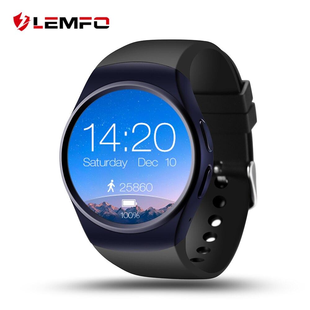 LEMFO LF18 Montre Smart Watch Téléphone Soutien SIM TF Carte Moniteur de Fréquence Cardiaque Horloge