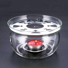 Teasaga Espesar Base de Tetera de Cristal resistente al Calor Calentador de la Calefacción