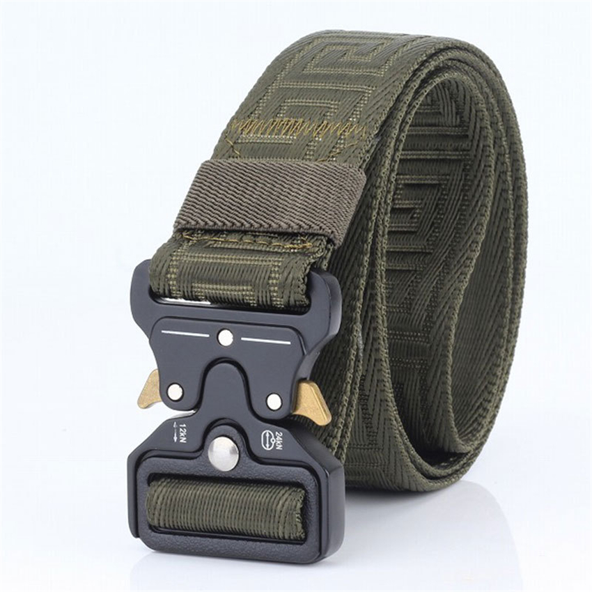Unisex Cobra Buckle Tactical Belt For Trousers Casual Nylon Army Belts Training Equipment Belt Male Black Military Waist Belt