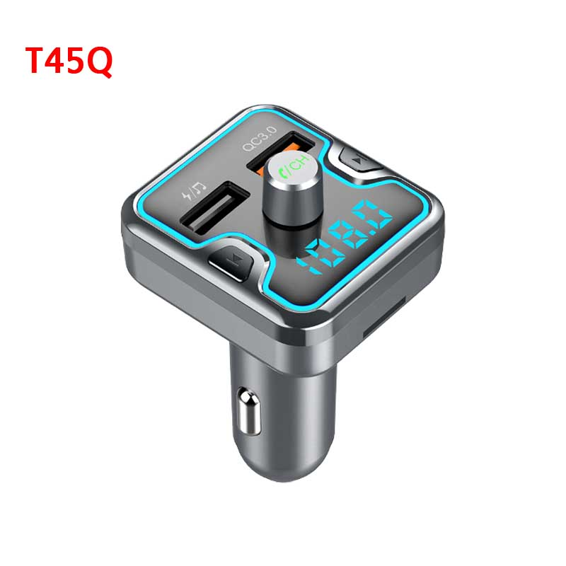 New Car Charger bluetooth mp3 lossless music player QC3 0 USB Type C Charger For Samsung S8 S9 S10 Xiaomi Huawei Phone Adapter in Car Chargers from Cellphones Telecommunications
