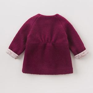 Image 3 - DB5513 dave bella outono infantil roupa dos miúdos da criança roupas de bebê meninas moda sólidos lolvely crianças de alta qualidade casaco de lã