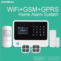G90B plus Wifi GSM Security Alarm System multi languages menu APP control smart home burglar alarm system Ifttt alarm system