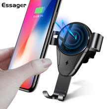 Essager 10W Car Mount Qi Wireless Charger For iPhone XS Max Xiaomi mi 9 Fast Charging Phone Holder Samsung S10