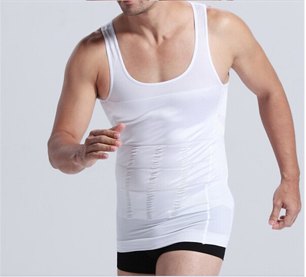 Hot sales Men Shaper Vest Body Slimming Tummy Belly Waist Girdle Shirt Shapewear Underwear 12