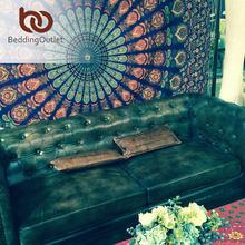 BeddingOutlet Mandala Tapiz Tapiz Matrices de Cristal Azul Hermoso Arte de La Pared 130 cm x 150 cm Hoja de bélgica Indio Nueva Ropa de Cama