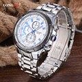 LONGBO Marca de Topo Homens Relógio de Quartzo Esportes Magro Ocasional Relojes relógio de Pulso de Aço Inoxidável Analógico Relógio de Quartzo dos homens de Negócios 80135