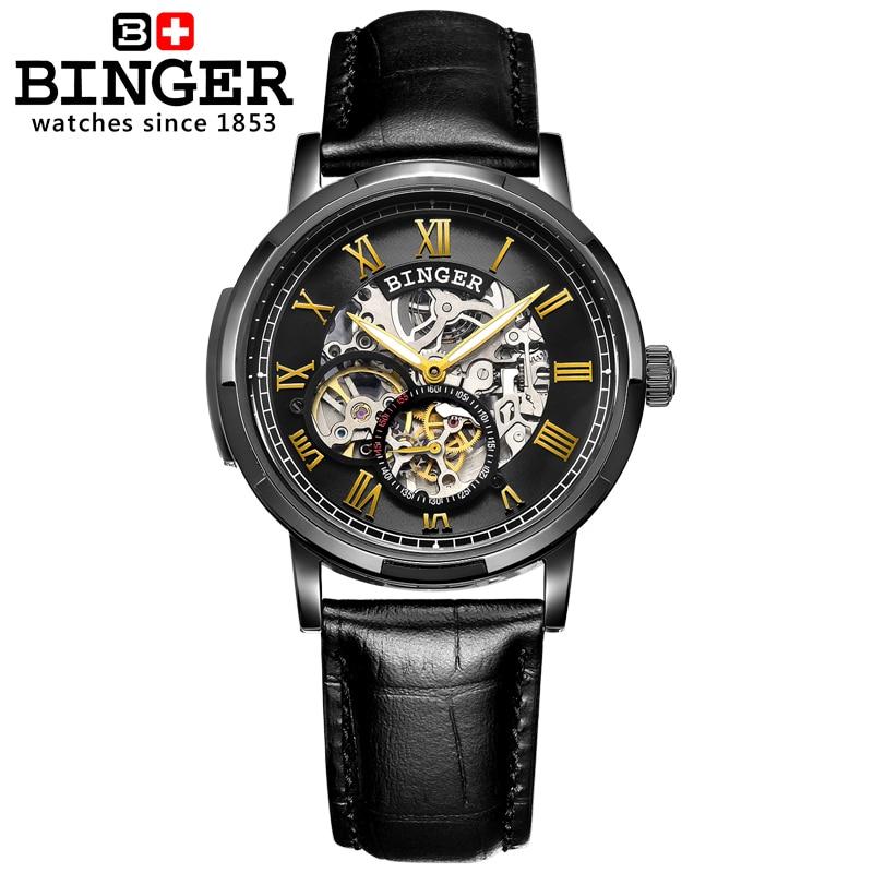 Szwajcaria zegarki męskie zegarki męskie luksusowej marki BINGER - Męskie zegarki - Zdjęcie 5