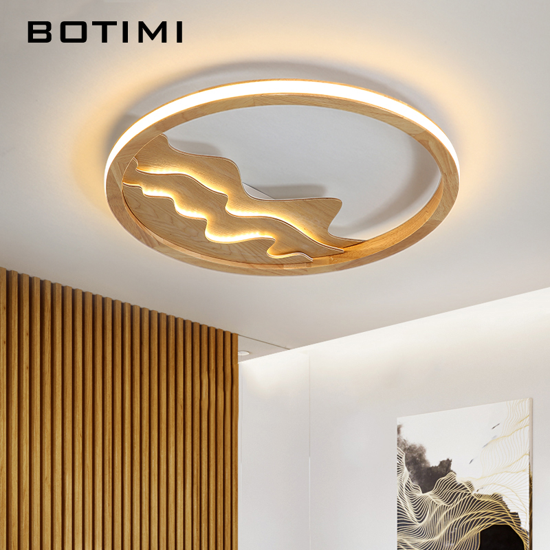 Ceiling Lights Ceiling Lights & Fans Fine Botimi New Design Led Ceiling Lights With Wood Frame For Bedroom 220v Modern Rooms Lighting Fixture White Round Ceiling Lamp A Great Variety Of Models