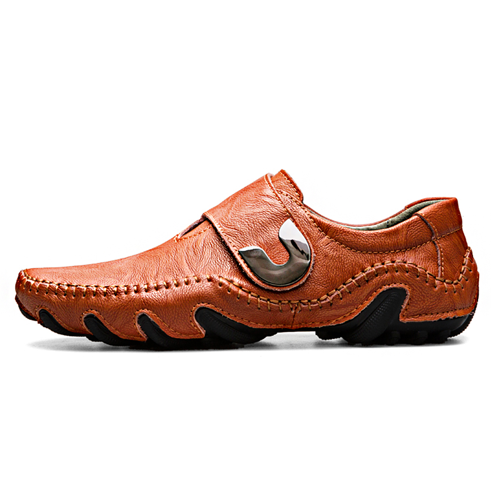 Brand Soft Genuine Leather Loafers Men Causal Boat Shoes Moccasins Designer Sneakers Flats Slip On Male Shoes Adult Footwear genuine leather sneakers men loafers moccasins fashion causal shoes men slip on oxford footwear male brand designer high quality