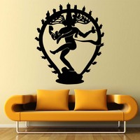The Hindu God Of Destruction Shiva Wall Stickers Home Decor Indian Religion Hinduism Wall Decals Vinyl Living Room Decorative