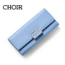 CHOR Elegante Frauen Leder Brieftasche Bewegliche Multifunktions Lange Einfarbig Geldbörse Heiße Weibliche Münzbeutel Lady Kupplung Carteras