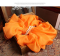 Женские Шелковые Шарфы Orange Желтый Негабаритных Шарф Зима теплая 100% Чистого шелка квадратный кулон роскошные дизайнер хиджабы длинные Шали