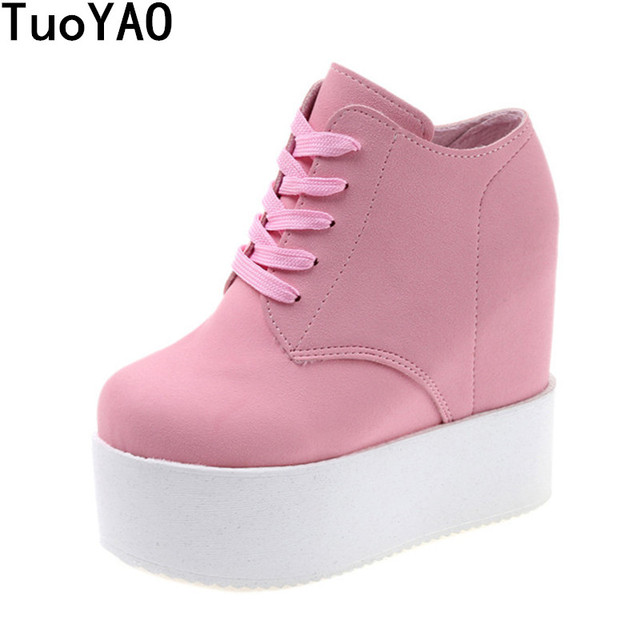 bdcb5a3bd940 Wedge high heels zapatos mujer Platform Heels ladies Canvas Shoes chaussure  femme women school valentine zapatos Casual Shoes
