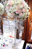 Цветок чаша с 8 АМР хрустальные канделябры для свадьбы событий, свадебный стол цветок, K9 цветок стенд для Свадебные украшения