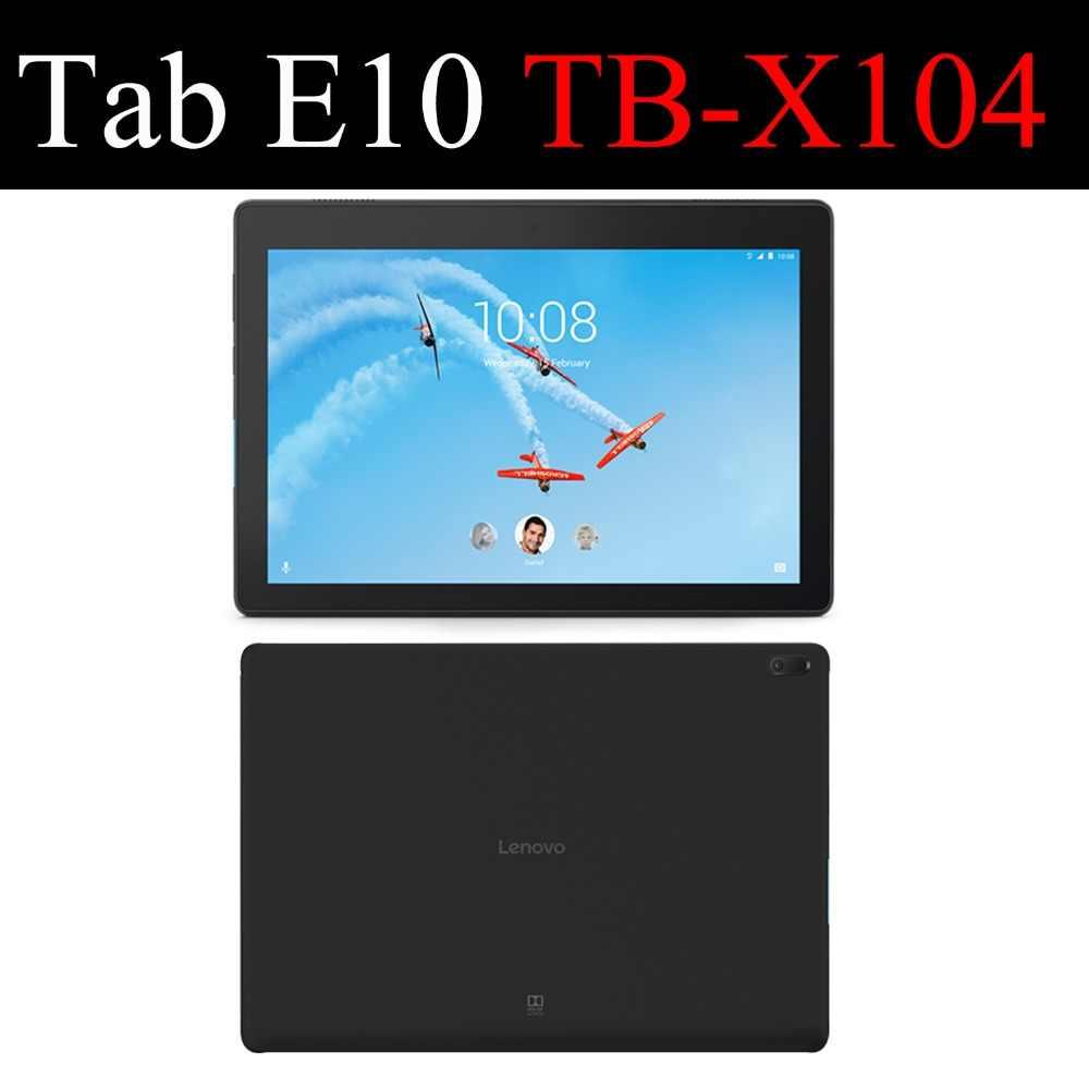 AXD Flip caso para Lenovo Tab E10 10,1 pulgadas protector de cuero de la cubierta de la cáscara del soporte fundas capa tarjeta para TabE10 TB-X104F 4G LTE Wifi