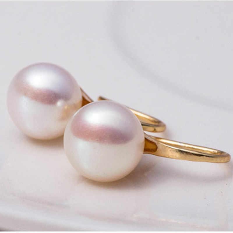 Nueva moda 2019 estilo nacional bohemio pendientes de perlas de agua dulce natural mujeres colgar popular al por mayor