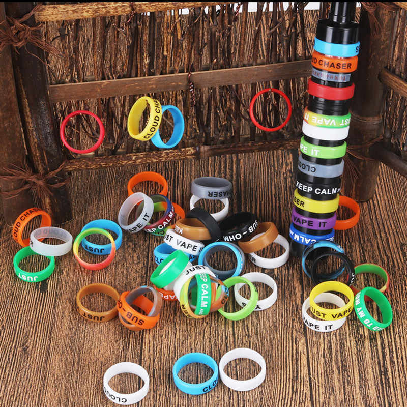 8pcs silicone rubber vape ring decorative band 22mm mechanical mod Protection decorative bands Electronic Cigarette Accessories