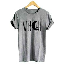 52d4d4e98bb Witch Crescent Moon and Star Print Women tshirt Casual Cotton Hipster Funny t  shirt For Girl Top grunge Halloween tumblr tees