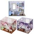 Игрушки Кукольный Миниатюрный Box Kit С LED Мебель Ручной Миниатюрный Кукольный Домик DIY Деревянная Кукла Дом
