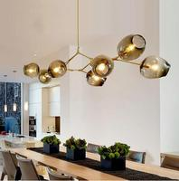 Designer chandeliers in the Nordic idea branches pendent lamp glass ball lamp droplight of post modern art