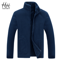 HanHent Stand Collar Thick Fashion Sweatshirt Jackets Men's Winter 2018 Fleece Cardigan Hoodies Warm Mens Clothing Casual Street