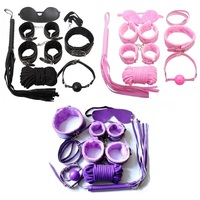 Adult Game 7 PCS/Set PU Leather Handcuffs Whip Collar Erotic Toy for Couple Fetish Sex Bondage Restraint Sex Toy for Couples