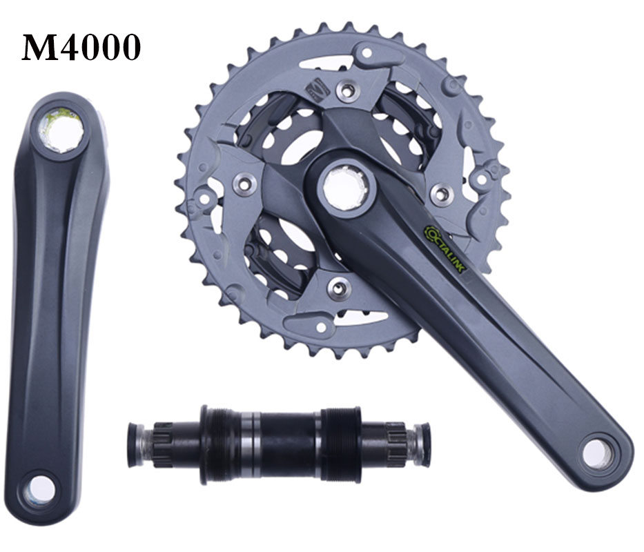 M4000 bicycle MTB chain wheel ALIVIO 9speed Crank Crankset 40 30 22T japan made in Malaysia 170mm|Bicycle Crank & Chainwheel| |  - title=