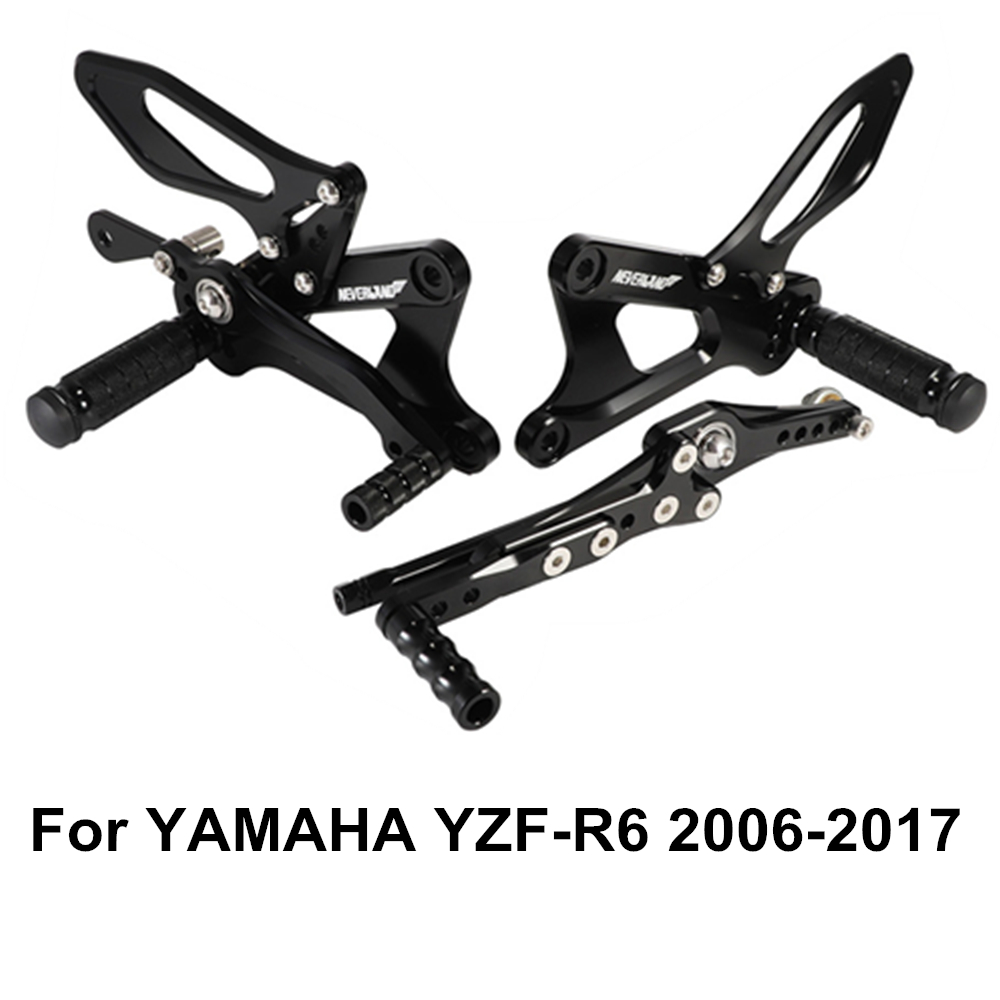 YZF-R6 2006 2007 2008 2009 2010 2011 2012 2013 2014 2015 2016 2017 Motorcycle Footrests Rear Set Adjustable Foot Pegs For YAMAHA